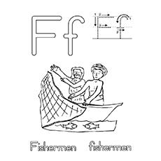 Desenho de pescador para colorir