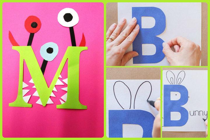 Idéias de artesanato de alfabeto