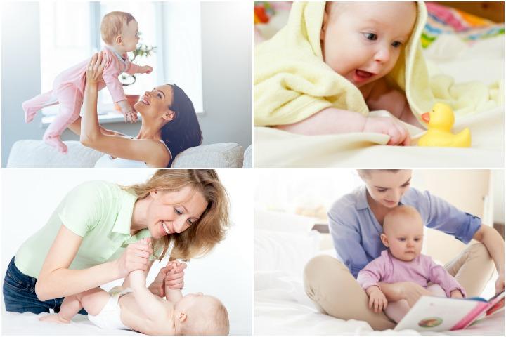 10 jogos e atividades de aprendizado para seu bebê de 4 meses