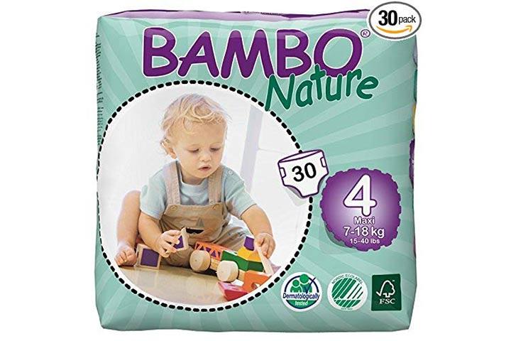 1. Fraldas de Bebé Orgânicas Bambo Nature