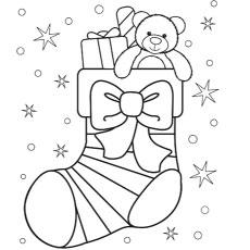 Meia de Natal com um laço