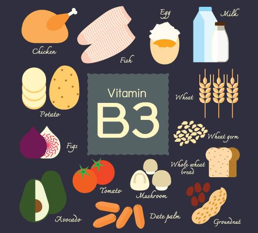 Complexo de vitamina B durante a gravidez - Vitamina B3