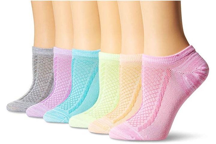 Hanes Mulheres Invisible Comfort Texture Socks
