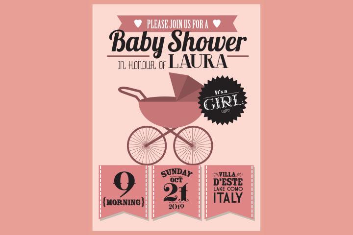 Mensagem de convite para chá de bebê para menina