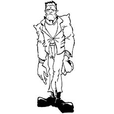 Desenho de Zumbi Frankenstein para colorir