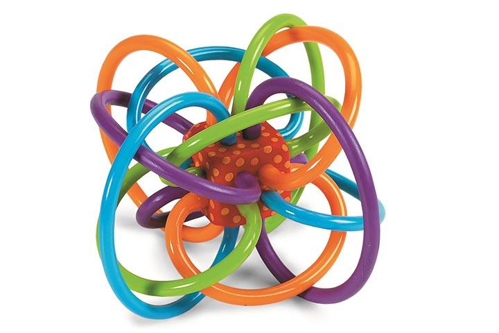 Chocalho do brinquedo de Winkel do brinquedo de Manhattan e mordedor sensorial