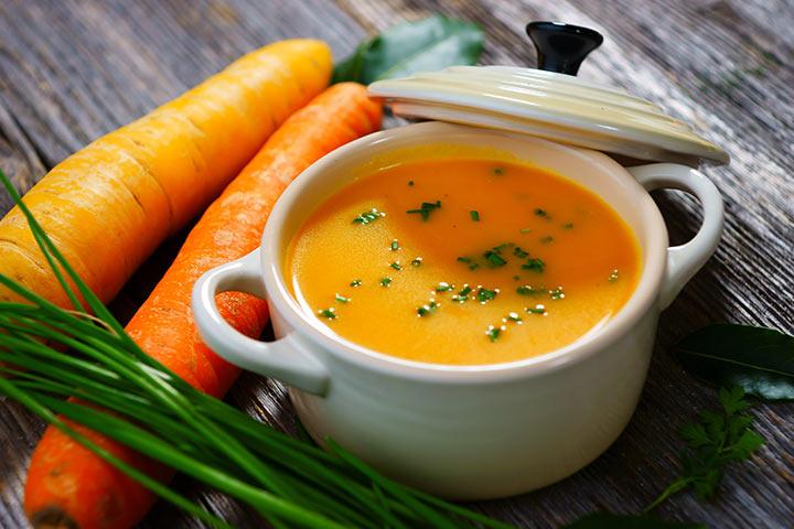 Sopa de cenoura e mel