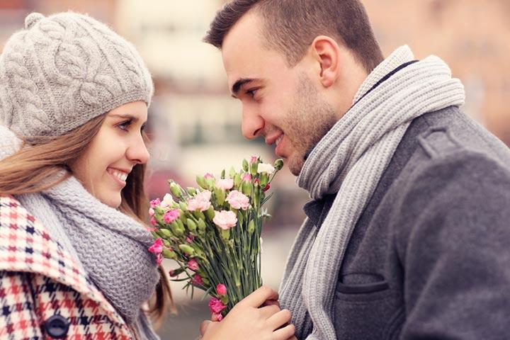 Diga com flores
