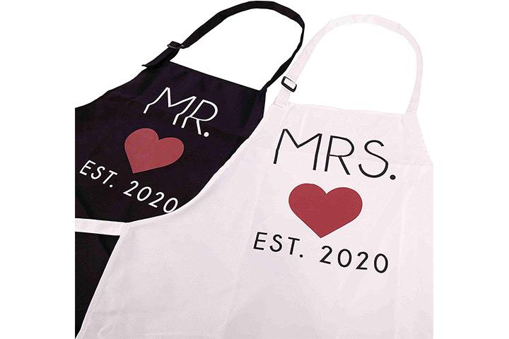 Marcas GSM Sr. e Sra. 2020 Casais Cozinha Aventais