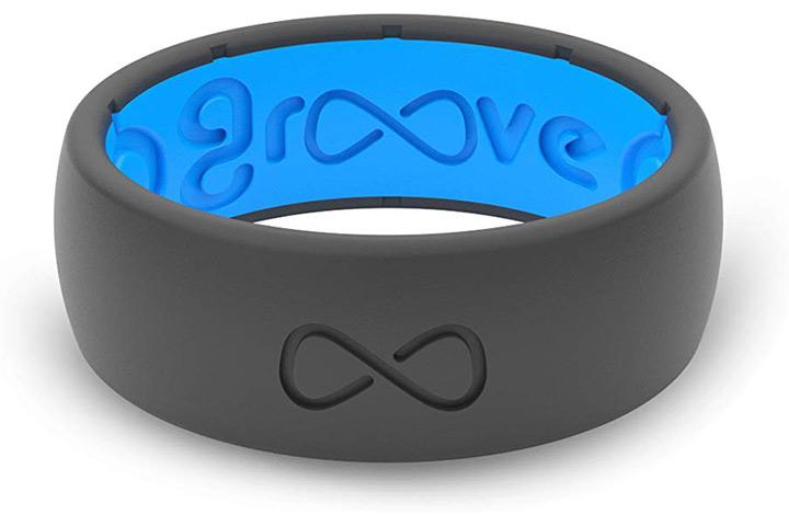 Anel de casamento de silicone para homem Groove Life