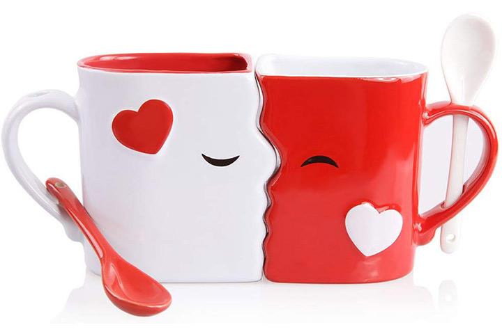 Conjunto de copos de beijo