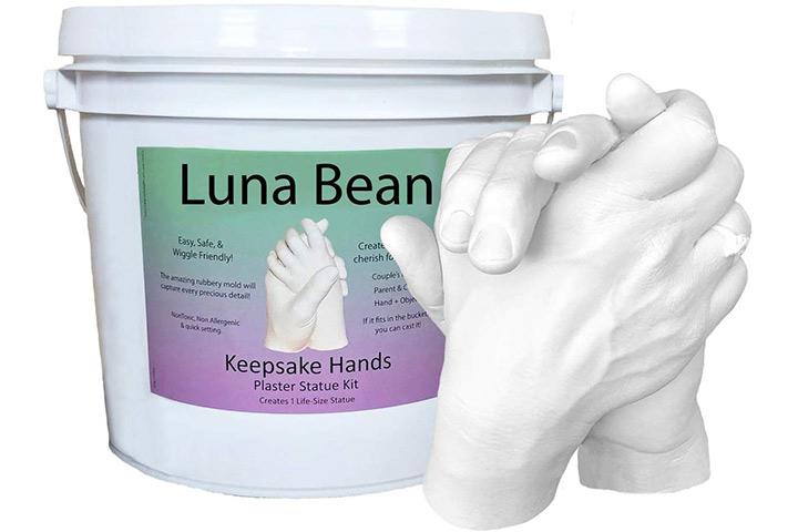 Kit de fundição para mãos de lembrança LARGE Luna Bean