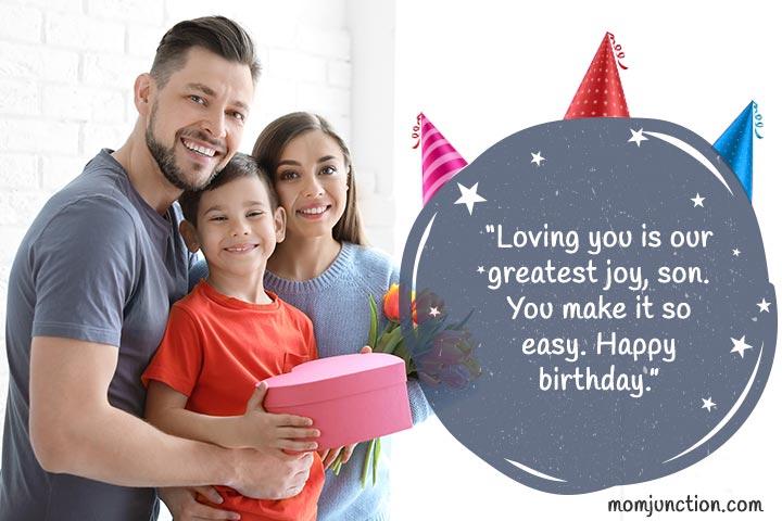 Desejos sinceros de aniversário para filho