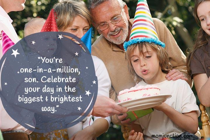 Feliz aniversário deseja ao meu filho