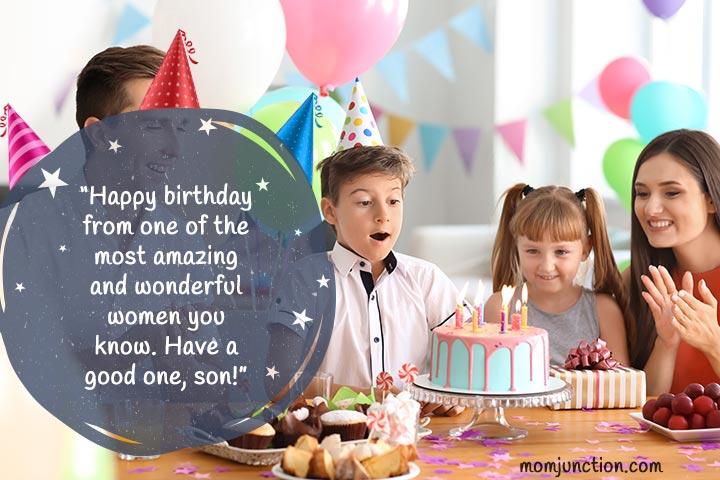 Frases de aniversário para o filho da mãe