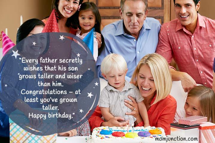 mensagens de aniversário para o filho do papai