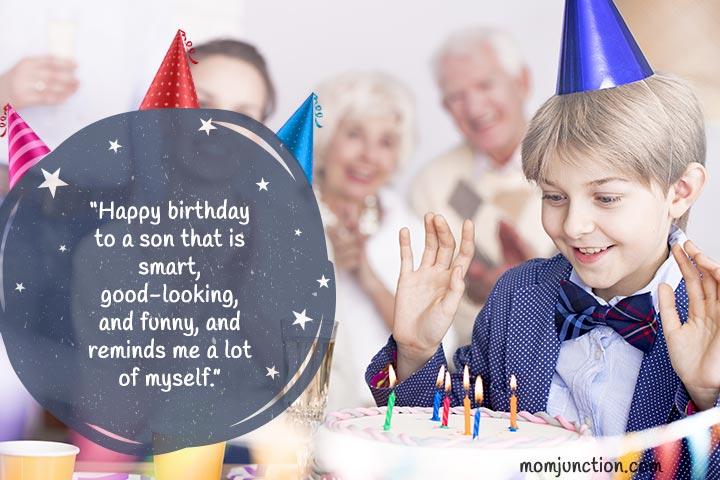 Desejos engraçados do aniversário para o filho