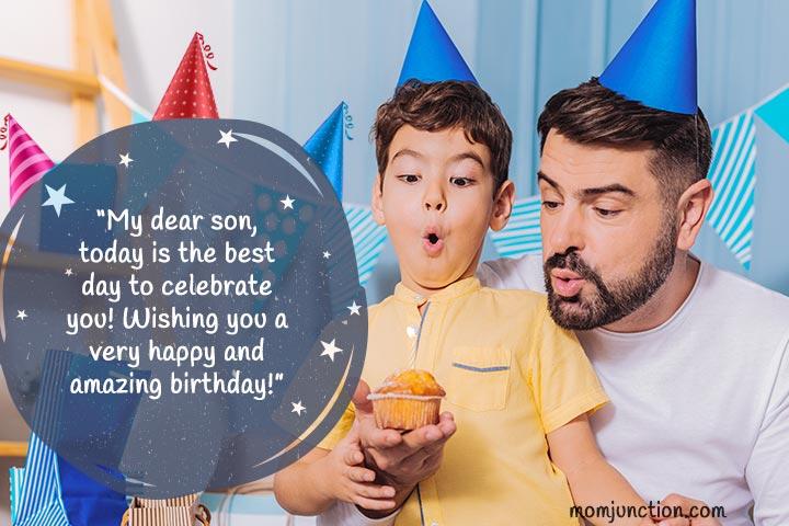 Desejos de aniversário para o filho do pai