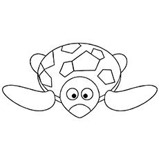 Desenho de tartaruga engraçada andando