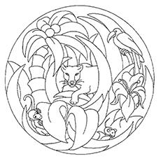 Panteras para colorir - uma pantera na selva