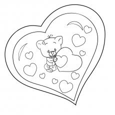 Coração do urso no Valentim