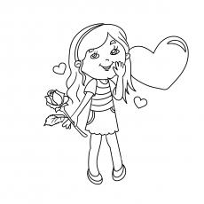 Linda menina com rosas