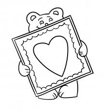 Urso de pelúcia com cartão de dia dos namorados