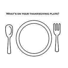 Desenhe seu jantar de ação de graças