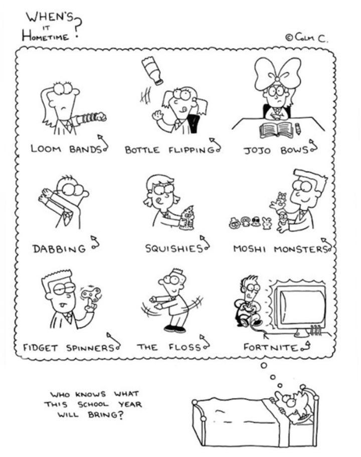 De que são feitos os pesadelos dos professores
