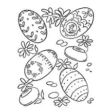 Desenho de Ovo de Páscoa imprimível grátis para colorir