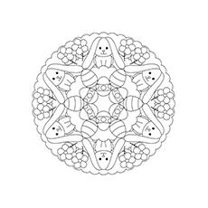 Ovo de Páscoa Mandala para Colorir