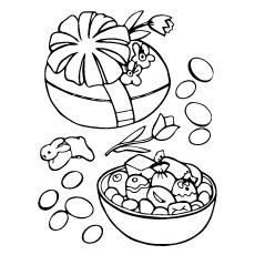 Desenho de ovo de Páscoa com doces dentro para colorir