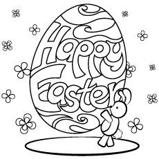 Imagens para colorir simples de design de ovo de páscoa