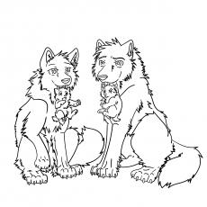 Lobos e filhotes01