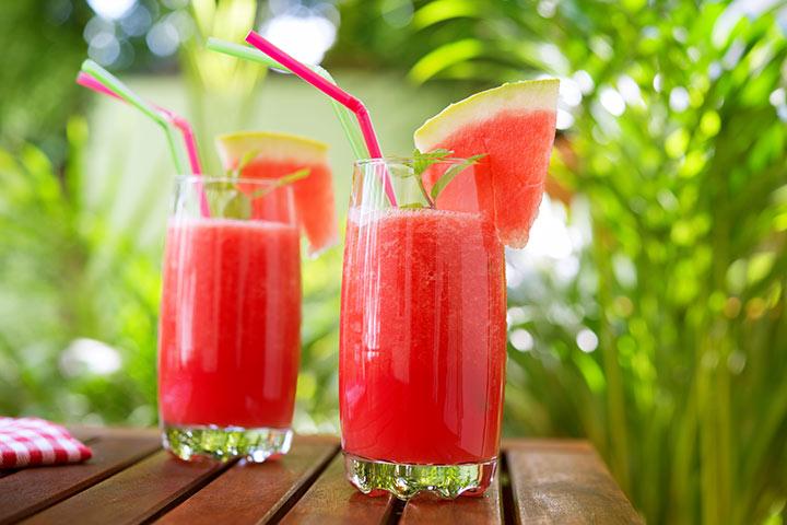 Suco de melancia para bebês