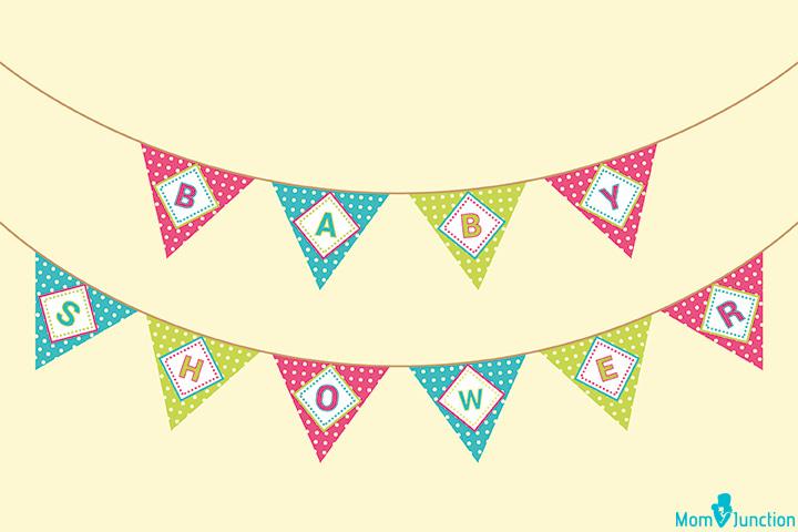 Banners de festa do bebê chuveiro triângulo