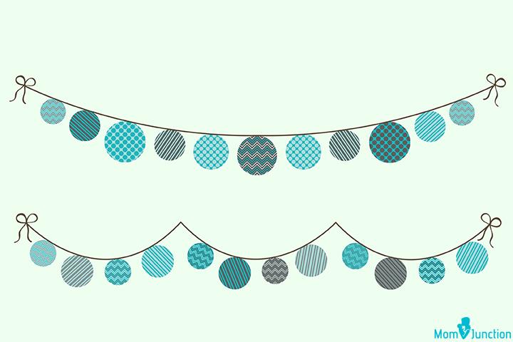 Banner do chuveiro de bebê festão