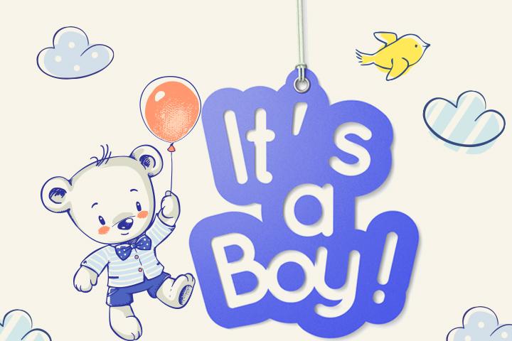 Banners de chá de bebê imprimíveis grátis para menino