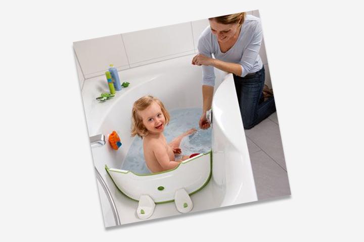 Use um divisor de banheira para economizar água.