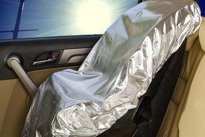 Use este guarda-chuva de assento de carro com reclinação de 60 graus,