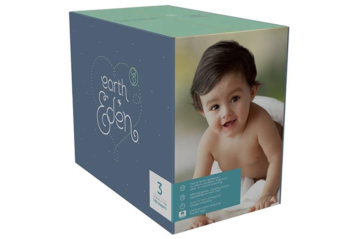 9. Fraldas Earth + Eden para Bebês