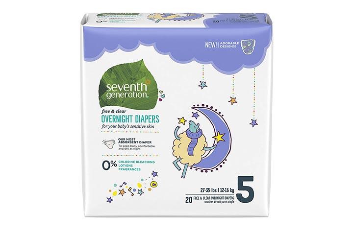 8. Sétima geração de fraldas para bebês à noite