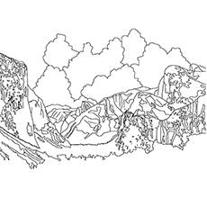 Desenhos para colorir Lago - Lago Tenaya