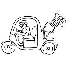 Desenhos para colorir Golf - Carrinho de golfe