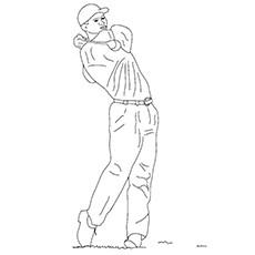 Desenhos para colorir Golf - Tiger Woods
