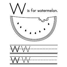 Desenho de melancia - W para melancia