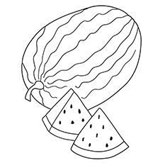 Desenho de melancia - melancia amarela