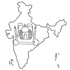 Um mapa da Índia