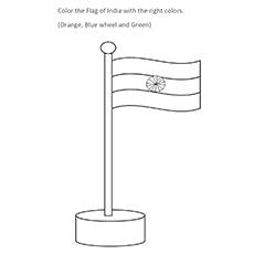 A bandeira da Índia