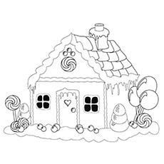 Desenho de casa de gengibre para colorir